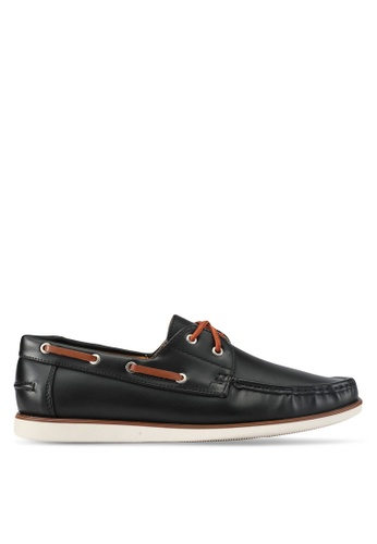 ZALORA black Essential Faux Leathe Boat Shoes 6D452SH022118CGS_1
