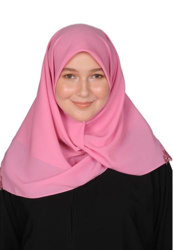 Bait Al Hijaab pink SQUARE SCARF IZDIHAR B8713AADC2EE1EGS_1