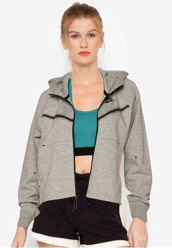 Nike grey Sportswear Tech Fleece Windrunner Full-Zip Hoodie 11E72AAE39678DGS_1