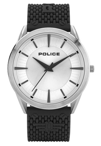 Police silver Jam Tangan Pria Rubber Strap Police PL.15967JS04P Original 4E1CBACB49D95EGS_1