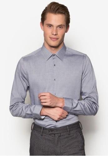 暗esprit 高雄紋修身長袖襯衫, 服飾, 襯衫