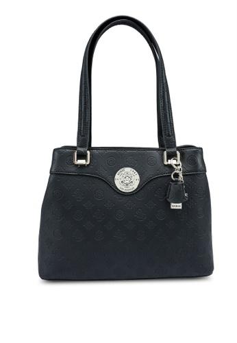 Guess black Dayane Shopper Bag E5657ACA14FED0GS_1
