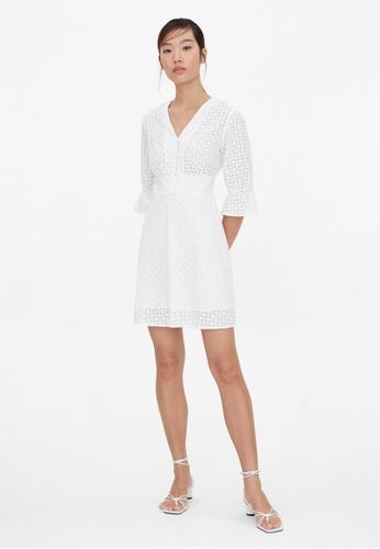 Pomelo white Purpose Mini Eyelet Dress - White CFD59AA9976120GS_1