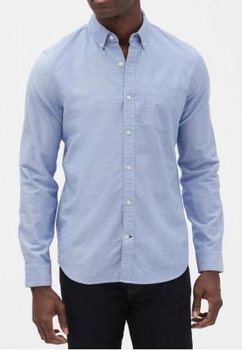 Gap blue Oxford Shirt in Slim Fit F7D70AAFD00229GS_1