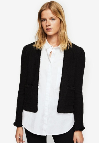 Mango black Puffed Sleeves Jacket MA193AA0RTDMMY_1