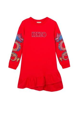 KENZO KIDS red KENZO GIRLS DRESS E4865KAC81FED9GS_1
