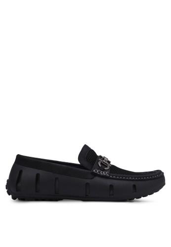 Knight black Mesh Loafers KN875SH0RX3QMY_1
