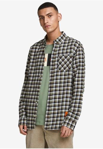 Jack & Jones green Camden Long Sleeves Shirt 442ABAA3867DDAGS_1