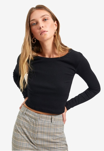 Trendyol black Long Sleeve Top 90B96AACAF73E7GS_1