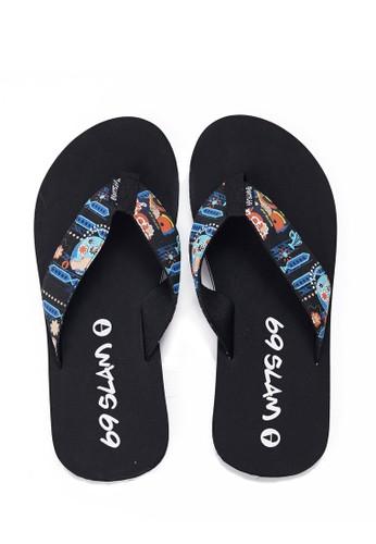 69 SLAM black Flamenco Sandal 8806DSHD234076GS_1