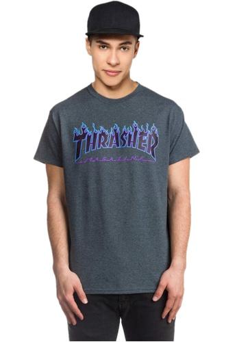 541254e9b388 Buy Thrasher Thrasher Flame Tee Dark Heather