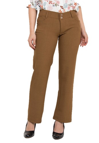 Brielle Jeans brown Celana Kantor 115 D7711AA9B2340AGS_1