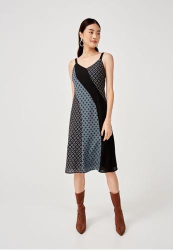 Love, Bonito black Tansy Mixed Print Midi Dress in Moroccan Reverie FA3D7AA5F4753BGS_1