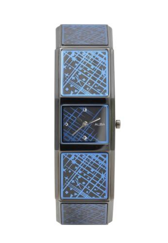 Alba black ALBA Jam Tangan Wanita - Black Blue - Stainless Steel - AC3T09 859A9ACC68D87CGS_1