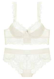 44b9921792 LYCKA-LMM1109- Lady Sexy Lace Bra and Panty Set-White 70FD2US8828C1EGS 1
