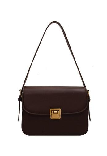 Lara brown Women's Flap Shoulder Bag Cross-body Bag - Dark Brown BEB4EACF8E76B2GS_1