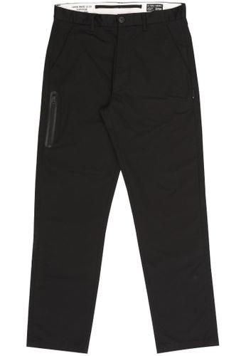 izzue black Straight cut pants 1B423AA209868CGS_1