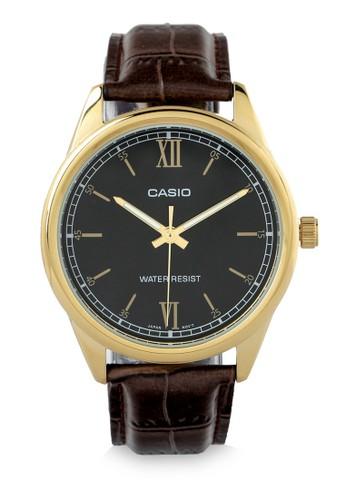 Casio black and brown Casio Men MTP‐V005GL‐1B2UDF-Brown Black 6CC88ACDD91AEBGS_1