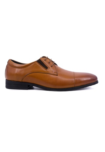 Hanson Bootmaker brown Hanson Bootmaker Lace Up Derby- Tan HA656SH0GHW2SG_1