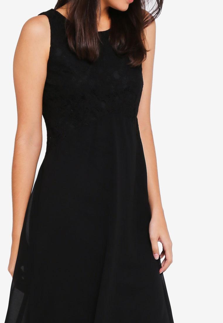 Fit Black Black Dress Top Wallis amp; Petite Flare Lace qfw6RT6