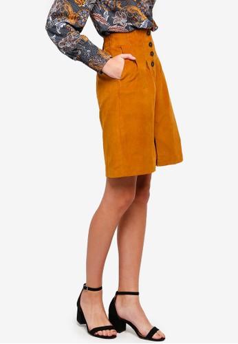 ESPRIT brown Woven Mini Skirt 8ADF9AA7FC2B2BGS_1