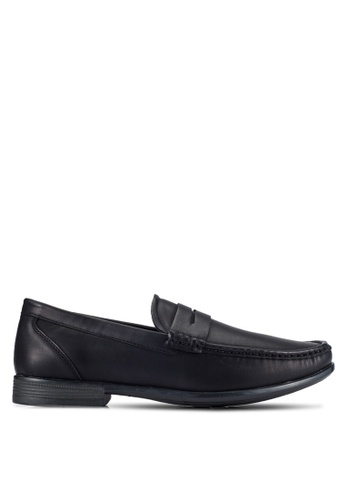UniqTee black Classic Moccasin Loafers With Strap Detail UN097SH0RFVWMY_1