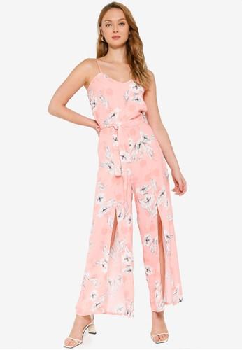 Quiz pink Split Leg Jumpsuit 087BEAA67A173FGS_1