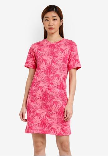 UniqTee red Full Print T-Shirt Dress UN097AA0S230MY_1