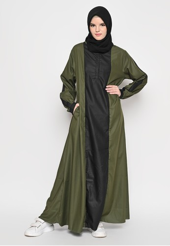 Tazqa Hijrah green Falisha Dress 3A944AA7908A3EGS_1