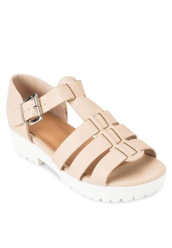 Gilmoesprit服飾re 羅馬厚底低跟涼鞋, 女鞋, 鞋