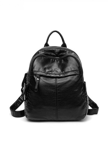 Twenty Eight Shoes black Fashionable Textured Faux Leather Backpack JW CL-C2937 D3A99ACD3AA431GS_1
