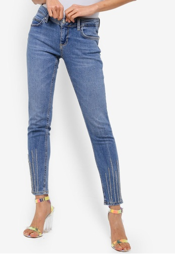 Guess blue Marilyn Embellished Skinny Fit Jeans FF643AADB79AE3GS_1