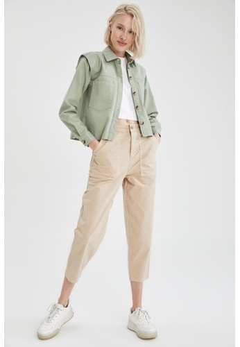 DeFacto beige Slouchy Trousers 217A7AAB1EA53CGS_1