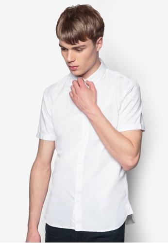 素色短袖襯esprit outlet台北衫, 服飾, 素色襯衫