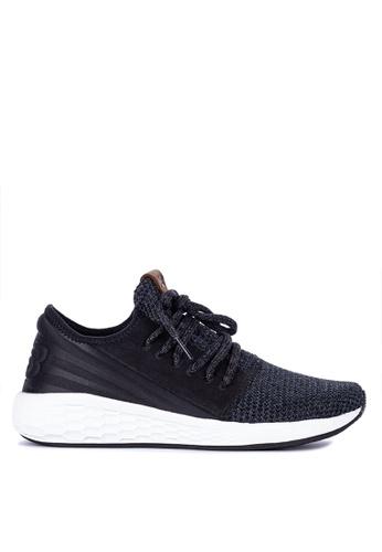 New Balance black and grey Cruz V2 Decon Fresh Foam Shoes 7632CSH0DC82FCGS_1