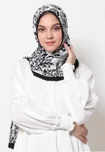 KASHKHA black Pashmina Scarf Poly Cotton with Stone by Kashkha/S19SHCASFCKID2204L-Black BF66EAA503E918GS_1
