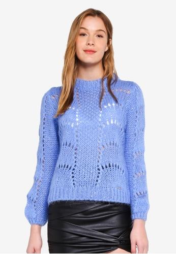 Guess green Rita Cut Out Sweater Top 0121BAA46B4288GS_1