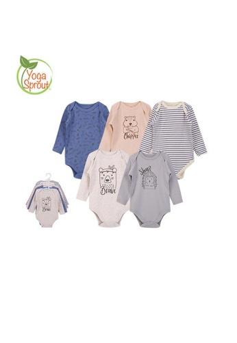 Little Kooma multi Hudson Baby Long Sleeve Bodysuits 5 Piece Pack Wild Woodland 92126- 1102 67EB1KA03666BCGS_1