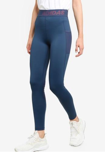ADIDAS navy techfit long branded elastic tights 27857AAE08C20CGS_1