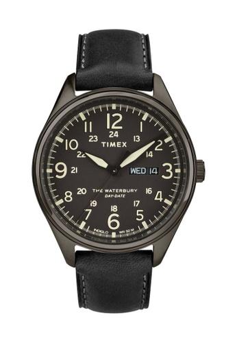 TIMEX black Waterbury Traditional Day Date 42mm - Black Case & Strap (TW2R89100) E688FACC7821E3GS_1