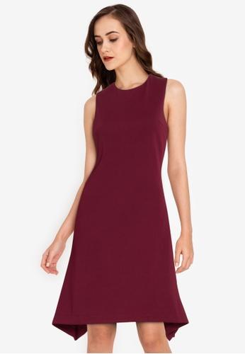 ZALORA WORK purple Flounce Hem Dress 96A49AA623CD2EGS_1