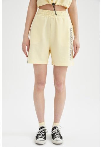 DeFacto beige High Waist Sweatshirt Short CABAFAAFA70CCEGS_1