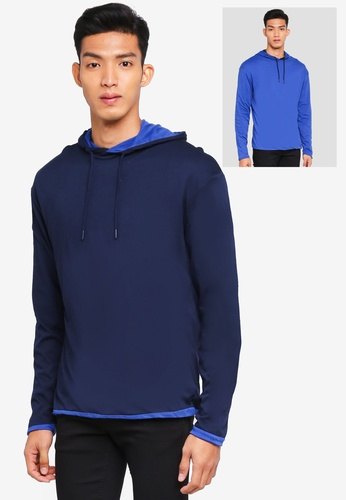 MANGO Man blue Mixed Cotton Sweatshirt 0E405AAC61D841GS_1