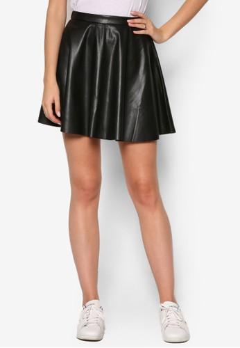 PU 傘狀短裙、 服飾、 裙子MissSelfridgePU傘狀短裙最新折價