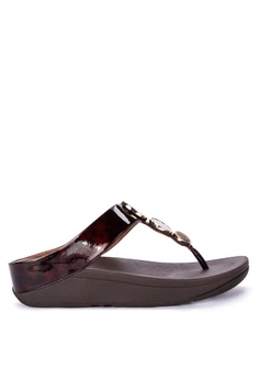 ee6fa518d6bb Fitflop brown Halo Tortoiseshell Toe Post Sandals A9C3ASH5E1EBD6GS 1