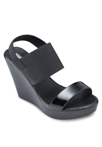 彈性繞踝厚底楔形涼鞋, 京站 esprit女鞋, 鞋
