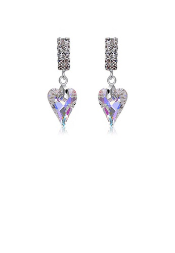 Glamorousky silver Refined Heart Earrings with Silver Austrian Element Crystal 82438AC19480BEGS_1