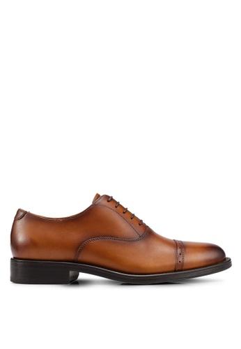 MANGO Man brown Leather Oxford Shoes 97480SHF6C4171GS_1