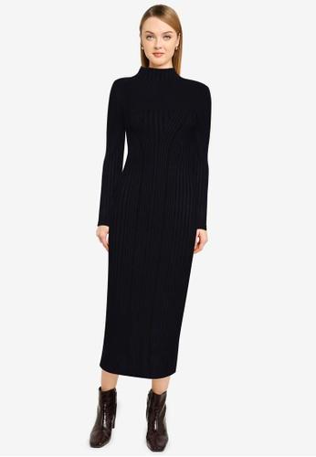 French Connection blue Jolie Knit Mock Neck Dress 5D2D8AA5F66E94GS_1
