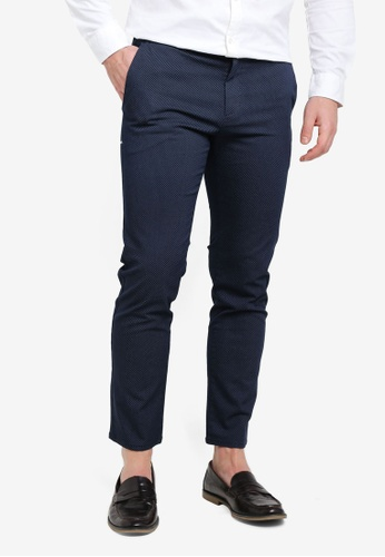 Sisley blue Printed Pants. 76DB7AA30C3A7AGS_1